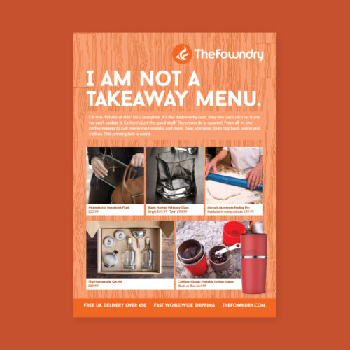 I Am Not A Takeaway Menu by Aaron Buckley
