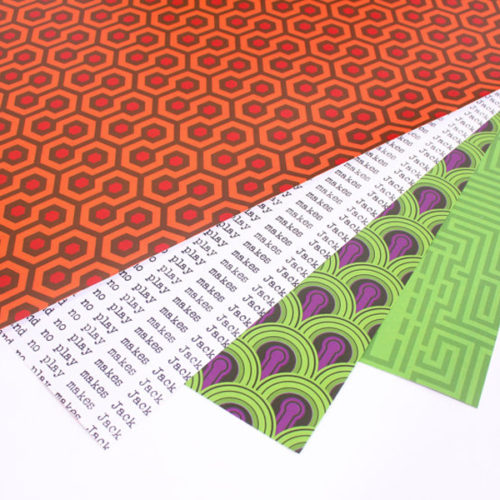 The Shining Inspired wrapping paper by Aaron Buckley