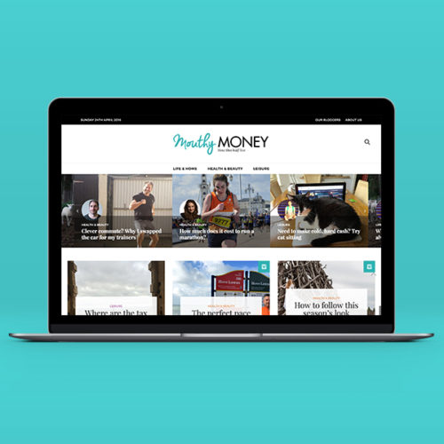 Mouthy Money Website by Aaron Buckley