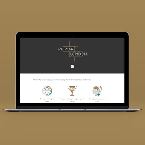 Mortar London Website by Aaron Buckley