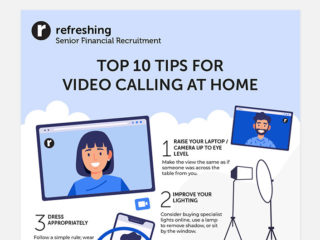 Top 10 Tips for Video Calling at Home Infographic